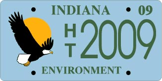Environmental plate for Indiana fishing license cost